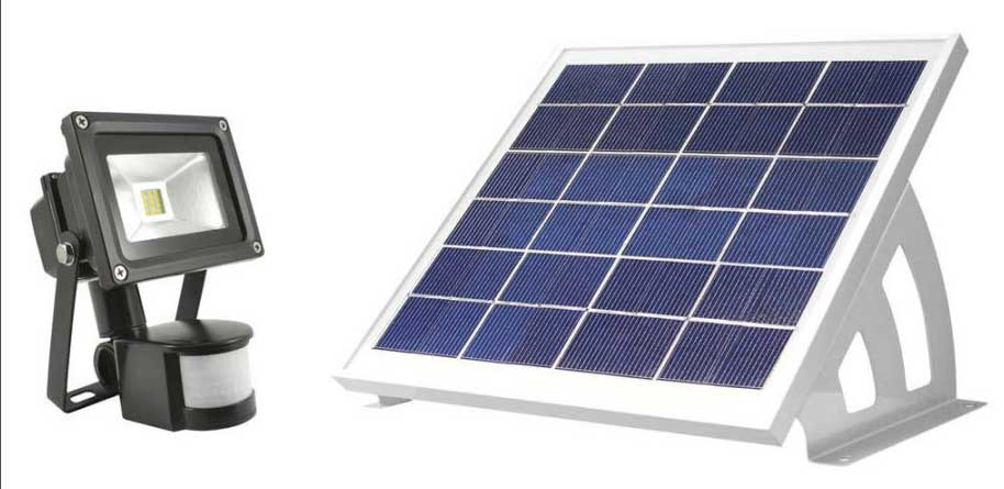 Solar security lights - remote panel security lights